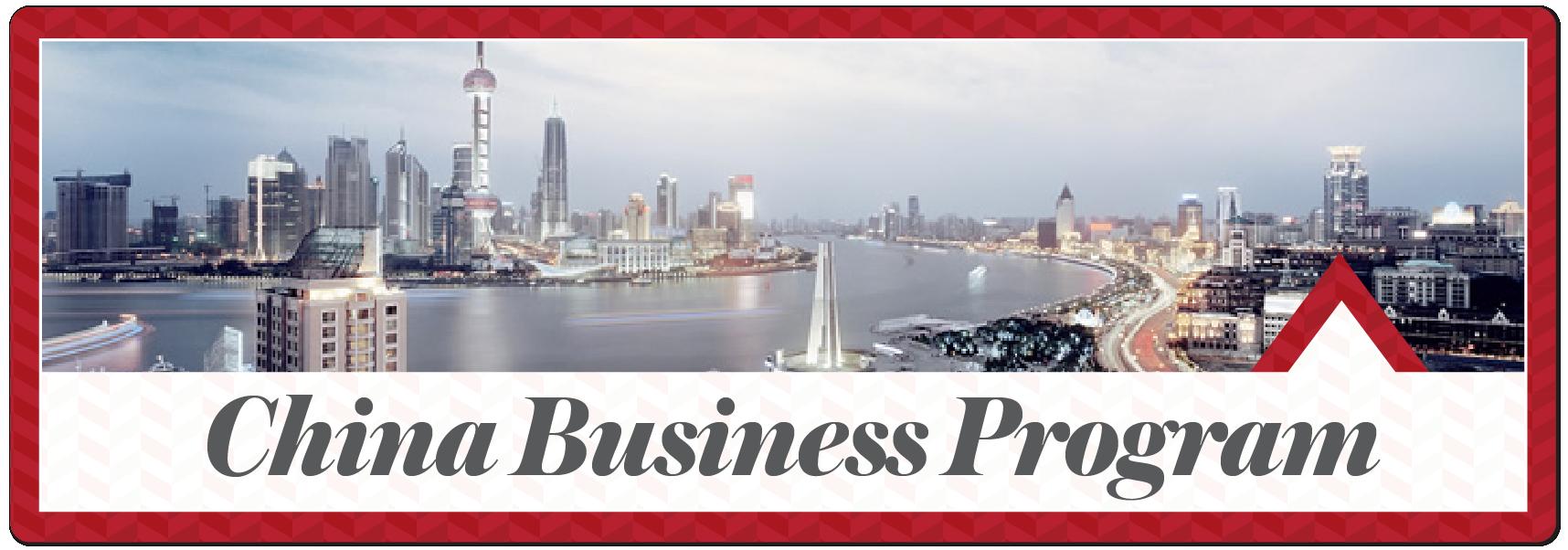 China Business Program. Photo of Shanghai skyline