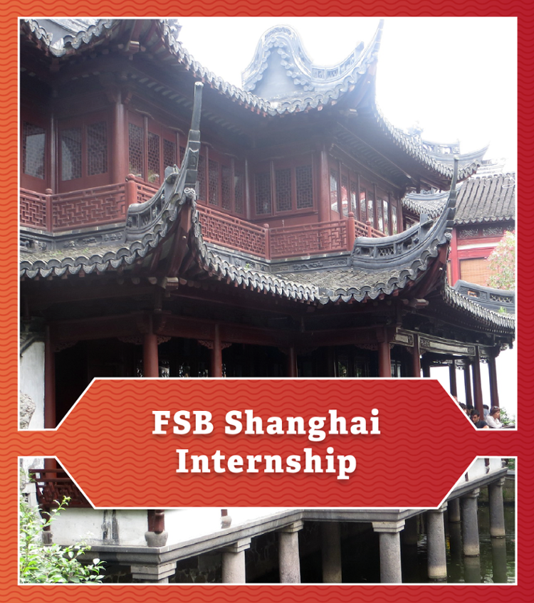 FSB Shanghai Internship. Photo of traditional Chinese architecture