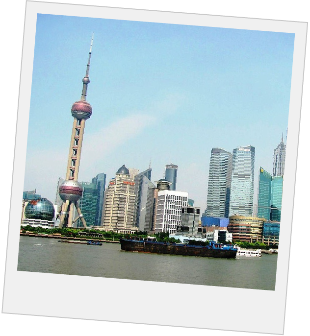 Polaroid of Shanghai Skyline