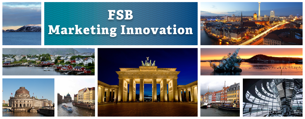 FSB Berlin-Scandinavia - a photo collage of scenic photos of Berlin and Scandinavian landscapes