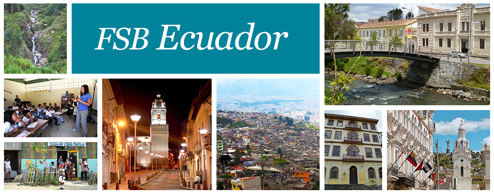 FSB Ecuador - a photo collage of different Ecuadorian landscapes.