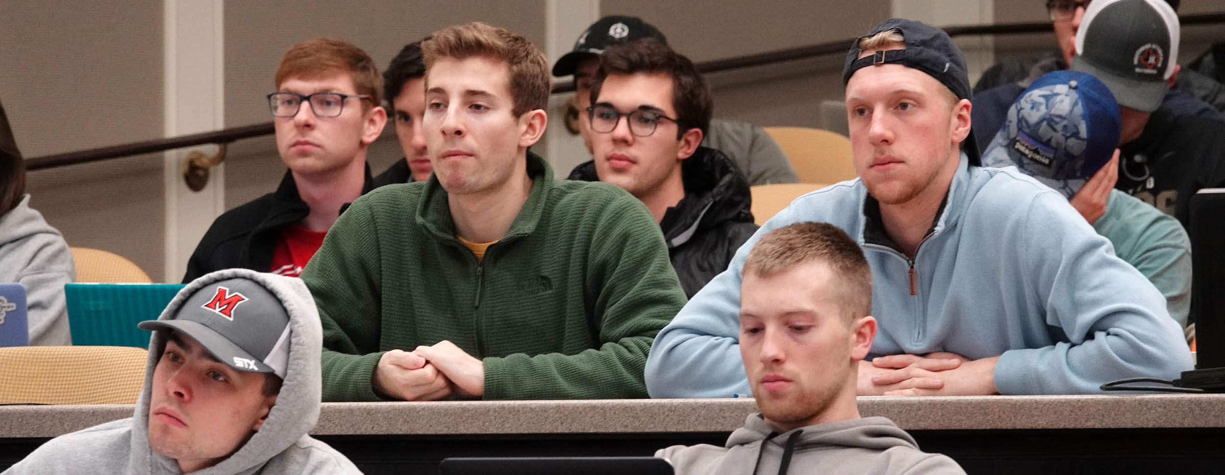 Students at supply chain speaker