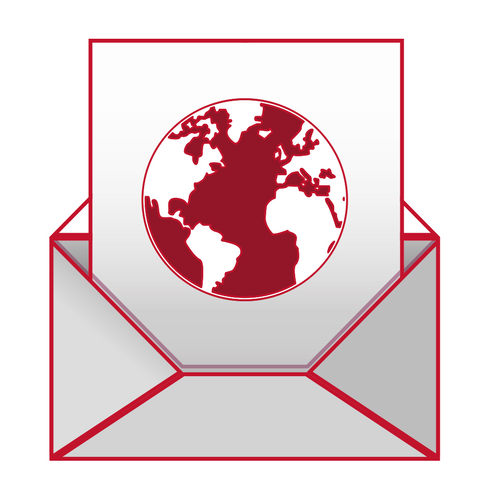 email icon with globe