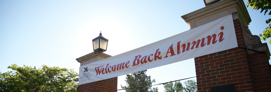 Welcome Back Alumni Banner