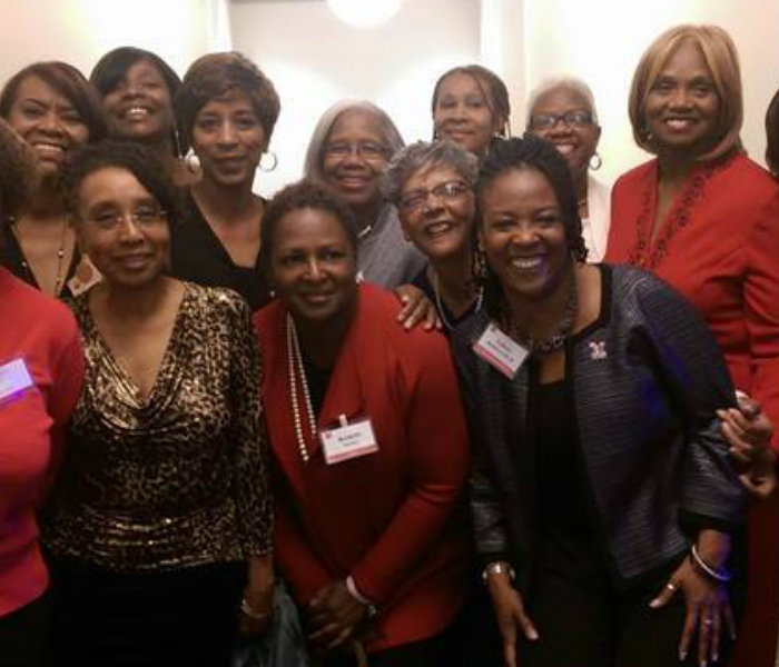 Group of female alumni at the Jazz Reception in 2014