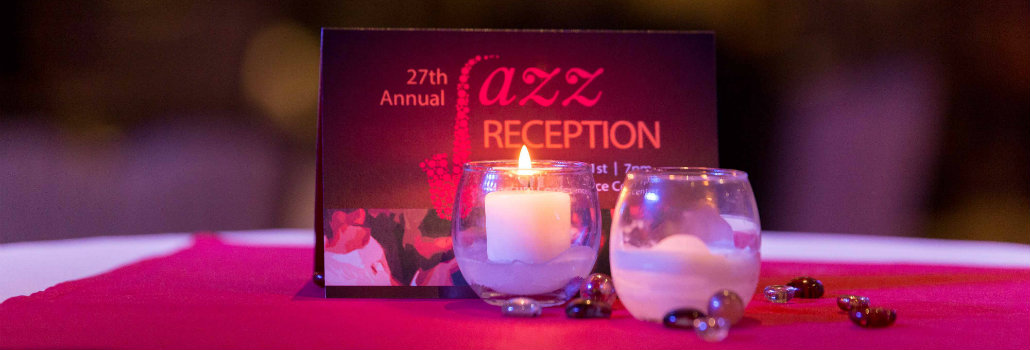 27th Jazz Reception Invitation sitting on a table