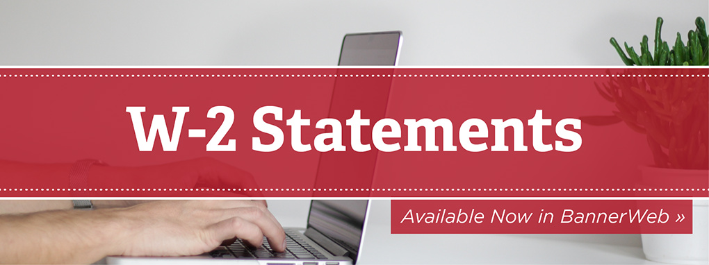 w2 statements available in bannerweb, hands on keyboard