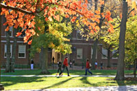 Upham Hall on a sunny fall day
