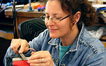 A woman enjoying a CraftSummer workshop