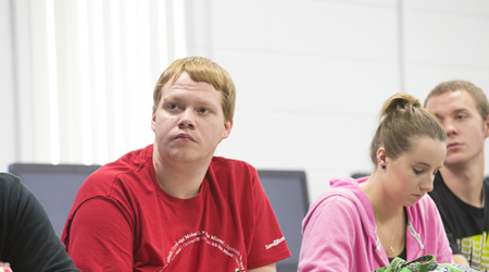 Student in a Computer and Information Technology class
