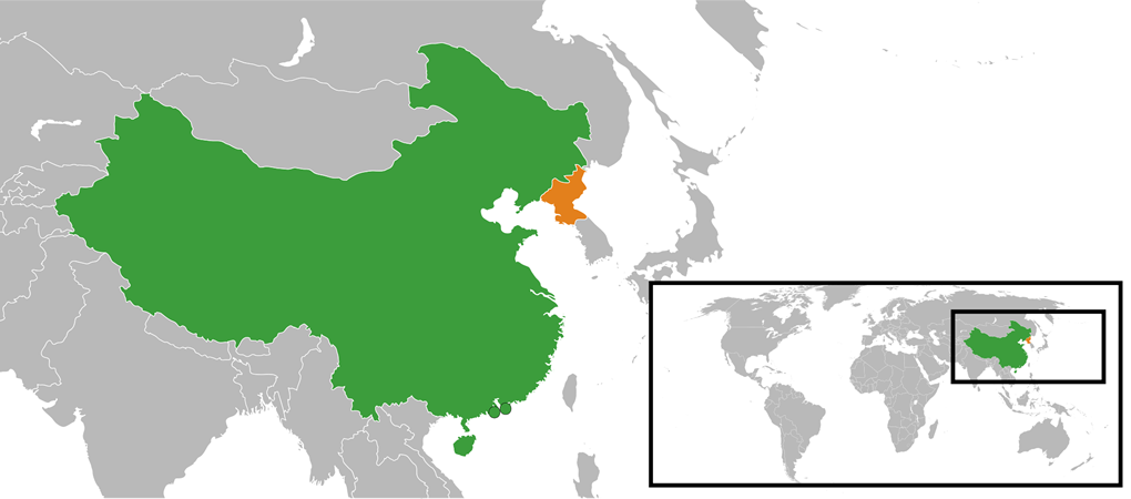 A map of the Asia pacific region.