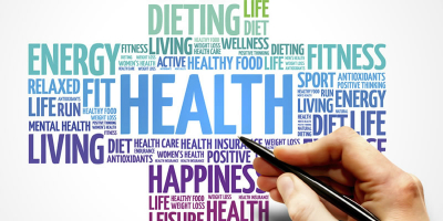 word cloud- health related words