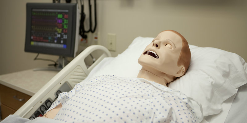 Nursing dummy that the students use