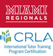 Miami Regionals word mark and CRLA logo: International Tutor training Program Certification