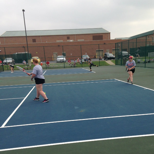 Womens doubles match