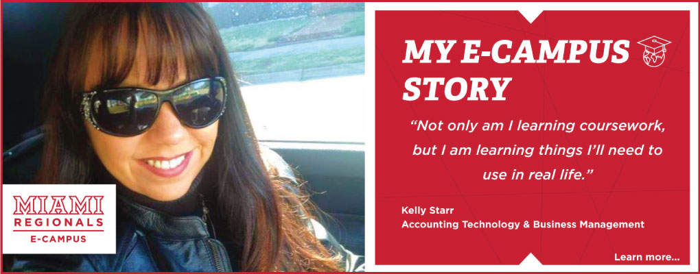 E-Campus Student Stories. Kelly Starr.