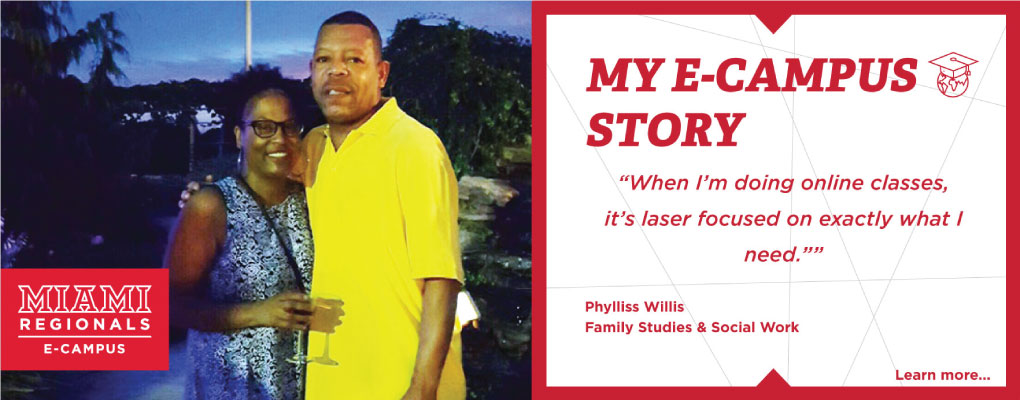E-Campus Student Stories. Phylliss Williss.