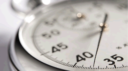 Close-up of stopwatch