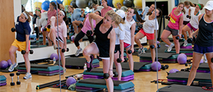 Students working out in Group Fitness class
