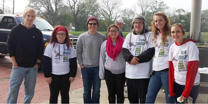 Students getting to participate in Clean Sweep event