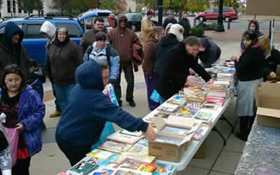 Center for Civic engagment giving away books