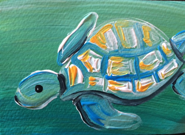 painted picture of a turtle