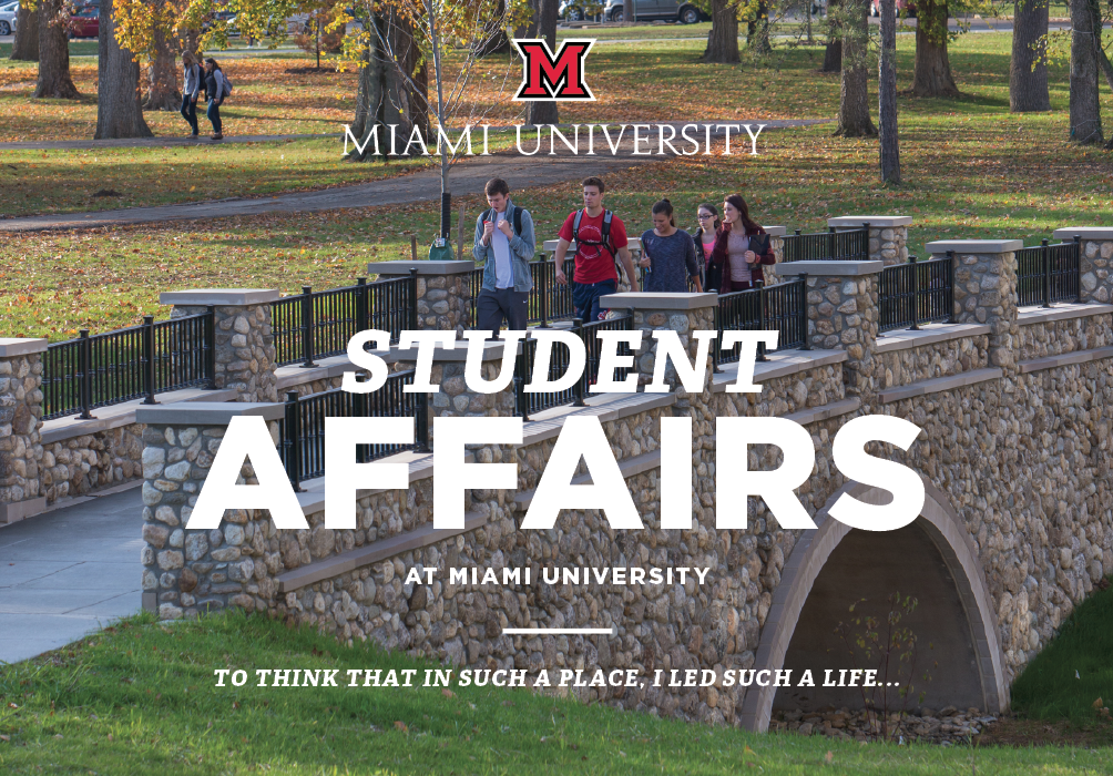 Student Affairs at Miami University.