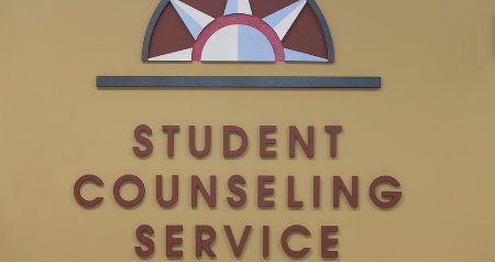 student counseling services sign