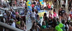 students at mega fair for student activities