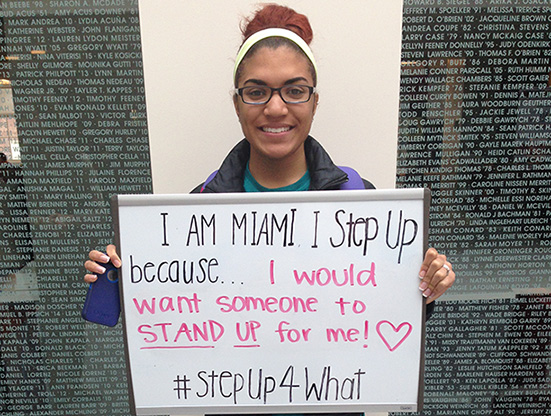 Miami University students step up!