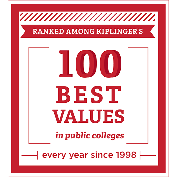 100 - Miami has been one of Kiplinger's 100 best values in public colleges every year since 1998