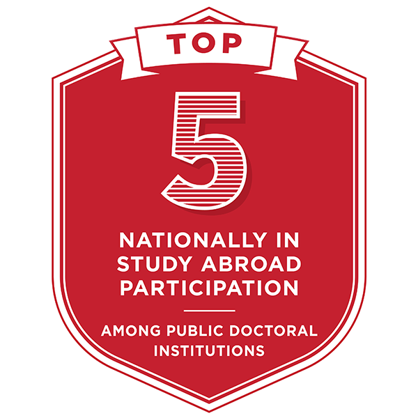 Top 5 nationally in study abroad participation among public doctoral institutions